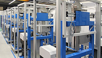 Serial assembly of special machines in the new assembly shop of Rühle & Co. Maschinenbau GmbH, Walzbachtal near Karlsruhe
