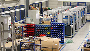 Rühle & Co. Maschinenbau GmbH assembly shop for packaging machine assembly, Walzbachtal in the district of Karlsruhe