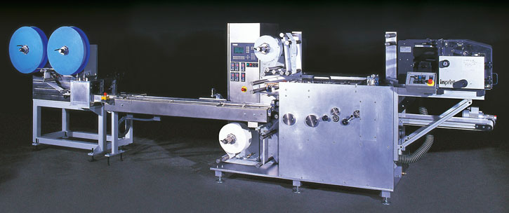Four-side sealed bag horizontal packaging machine manufactured by Rühle & Co. Maschinenbau GmbH VH4-Servo